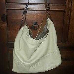 Cream Coach purse